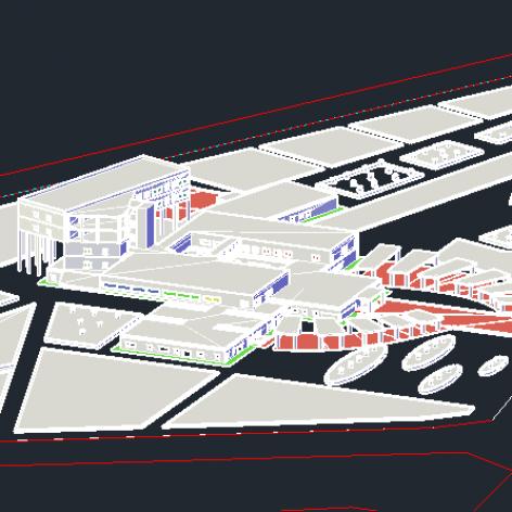 پروژه پلان اتوکد بیمارستان به همراه فایل ۳ بعدی